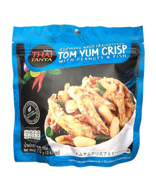 トムヤムクリスプとピーナッツと魚 タイお菓子(70g)