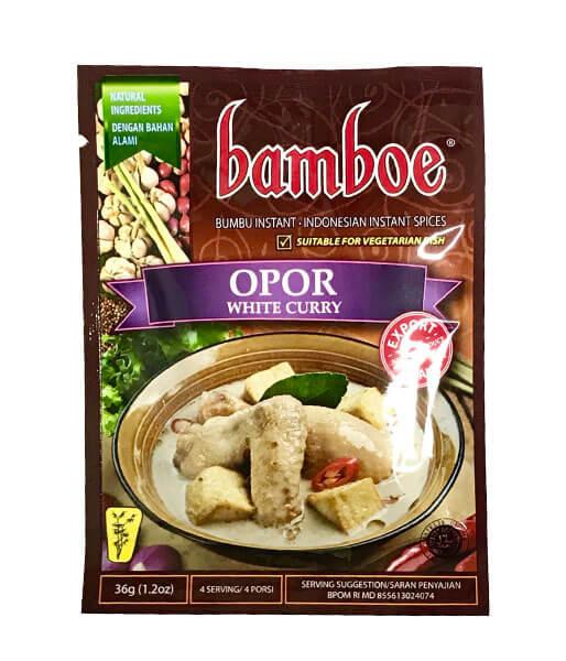 bamboe ホワイトカレーの素(インドネシア) 36g