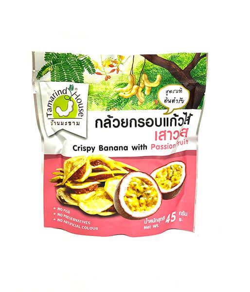 バナナチップスとパッションフルーツジャーム味 (45g)