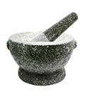 クロックヒン セット(石材うす) サイズ 15.5 センチ ( 8インチ )